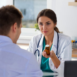 a doctor and a patient talking