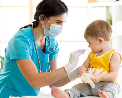 a child getting immunized