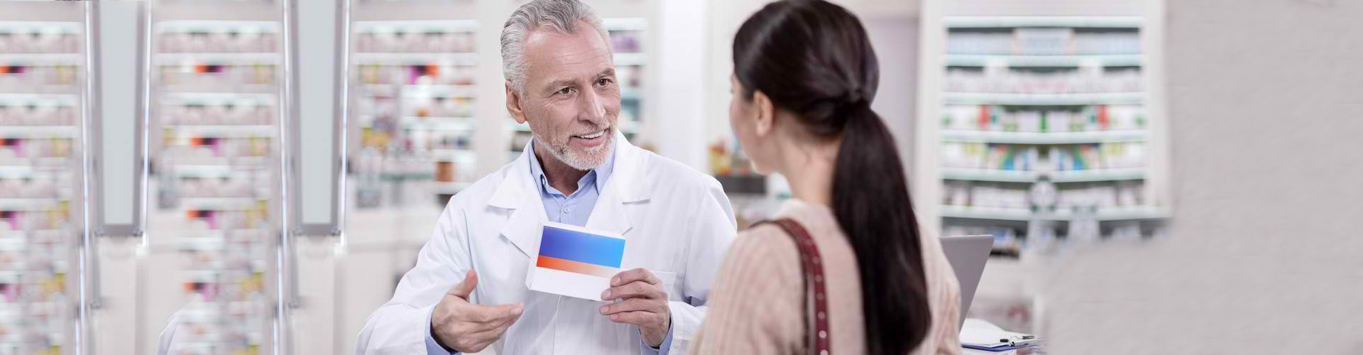 a customer getting consultations from the pharmacist