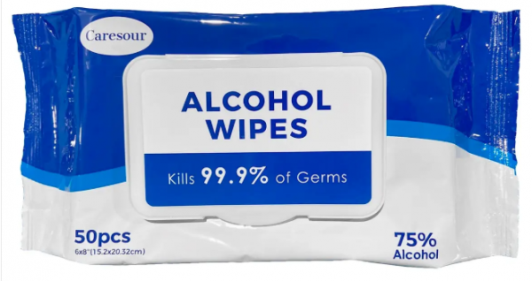 Caresour 75% Alcohol Disinfecting Wipes 50 PCS Per Pack